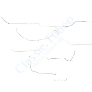 Pontiac LeMans Brake Line Kit  Convertible - Power Drum -1971,1972