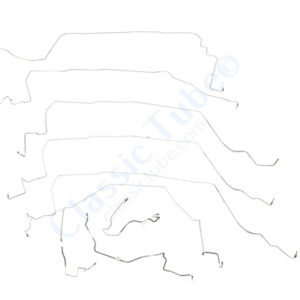 Chevrolet Corvette Brake Line Kit  Power Disc - W/ABS (9 Pc.) -1988,1989,1990,1991
