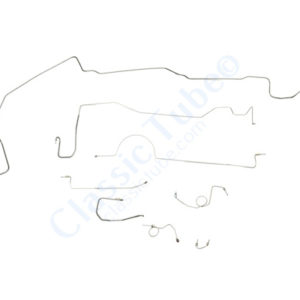 """Plymouth Barracuda Brake Line Kit  Power Drum - Right Front Routes Over Frame - 8-3/4"""" and Dana Axle -1972,1973,1974"""