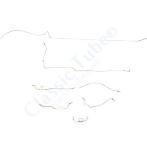 Ford Mustang Brake Line Kit (6 pcs)  Standard Drum - V8 Factory Single Exhaust -1964,1965