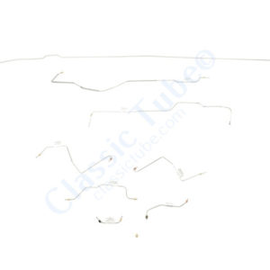 Ford Mustang Brake Line Kit (8pcs)  Power Drum - 6 Cylinder -1968,1969