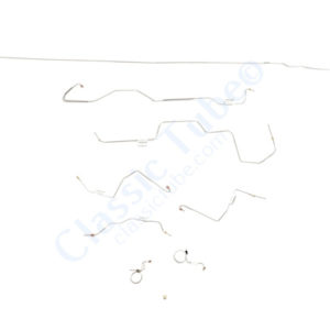 "Ford Mustang Brake Line Kit (8pcs)  Standard Drum - V8 - 9"" Axle - 31 Spline -1968,1969"