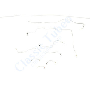 "Ford Mustang Brake Line Kit (9pcs)  Power Disc - V8 - 8"" Axle -1968,1969"