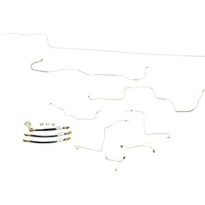 Ford Mustang Brake Line Kit (8pcs) with Rubber Brake Hose Kit (3pcs)  Power Drum - All -1970