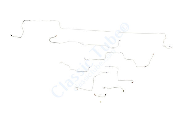 Ford Mustang Brake Line Kit (8pcs)  Power Drum - All -1970