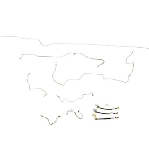 Ford Mustang Brake Line Kit (7pcs) with Rubber Brake Hose Kit (3pcs)  Power Disc - All -1970